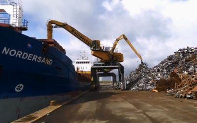 Idag lastar vi 3000 ton skrot.